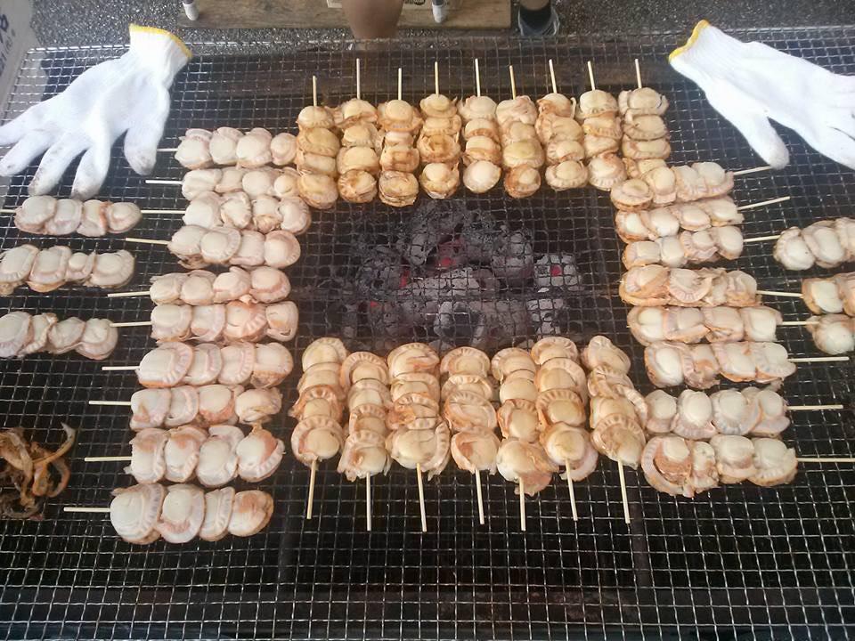 ホタテ串焼き